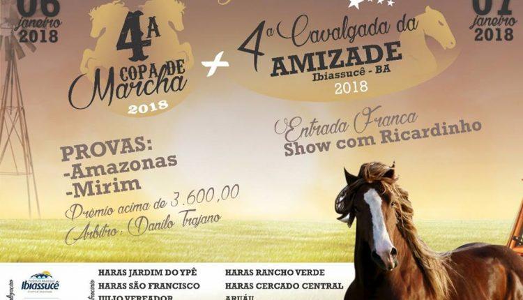 4ª Cavalgada da Amizade e 4ª Copa de Marcha ocorrerá em Ibiassucê