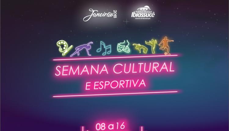 Semana Cultural e Esportiva trará diversas atrações e atividades para a população durante programação do Janeirão 2018