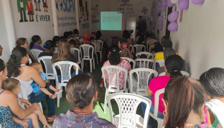 Cras realiza palestra sobre Agosto Lilás, mês de conscientização pelo fim da violência contra a mulher